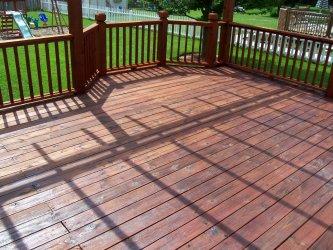 Weatherproofed Deck