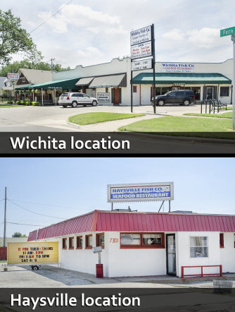 Wichita and Haysville Fish Company exteriors