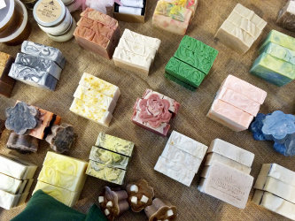 Handmade soaps, lotions, beauty products