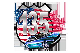 135 Auto Auction Logo