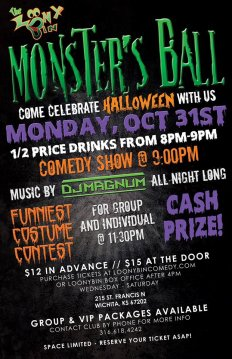 Monsters Ball at The Loony Bin