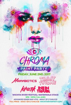 Chroma Paint Party Flyer