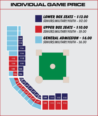 Wingnuts Stadium Ticket Map