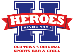 Heroes Sports Bar and Grill - Located in the heart of Old Town, the newly renovated Heroes is your #1 stop for food, fun, & sports!  36 HiDef TV's, heated outdoor patio, & daily drink specials.