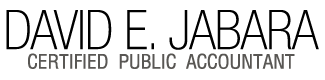 David E. Jabara Certified Public Accountant Logo