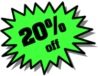 Save 20% OFF Fall Rates!