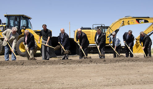 Groundbreaking on East Kellogg Improvements