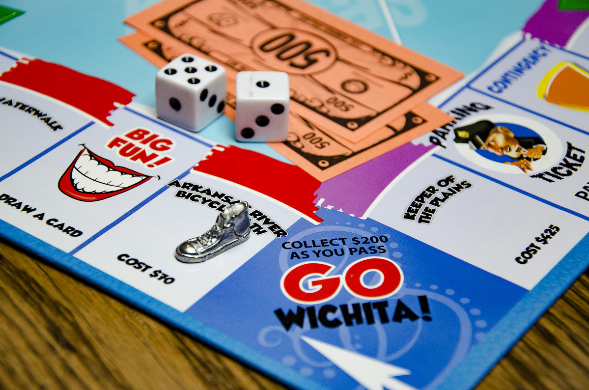 Wichita-Opoly Game Pieces