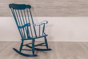 rock empty rocking chair.