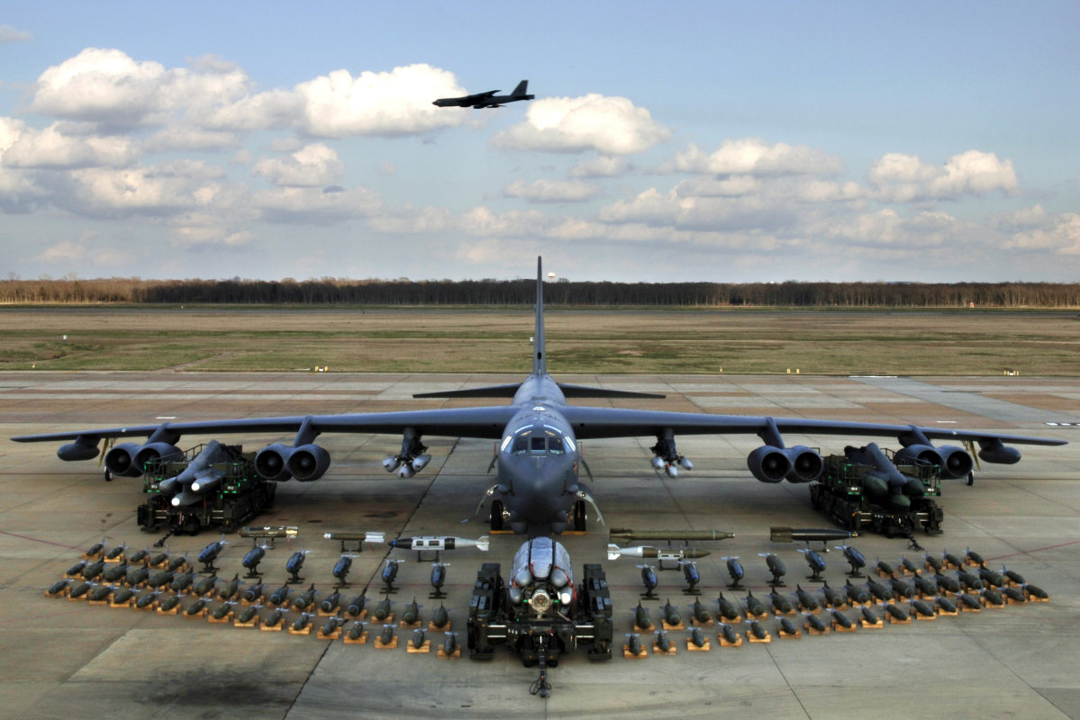 B-52 With full payload