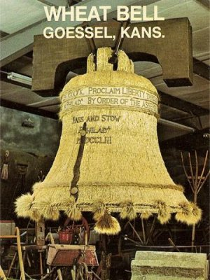 Liberty Bell Made of Wheat