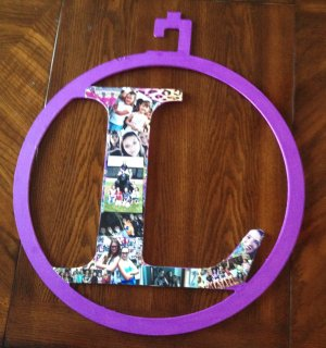 Photo Collage Monogram Letter