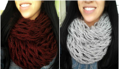 Arm Knitted Scarf