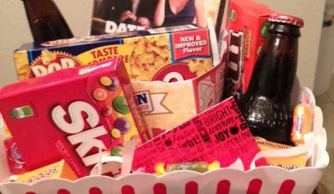 Movie Night Basket