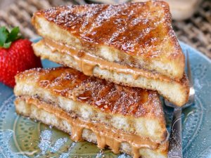 French Toast PB&J Sandwich