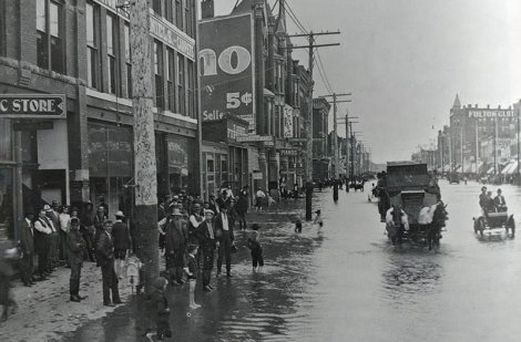 Flooded Dowtown