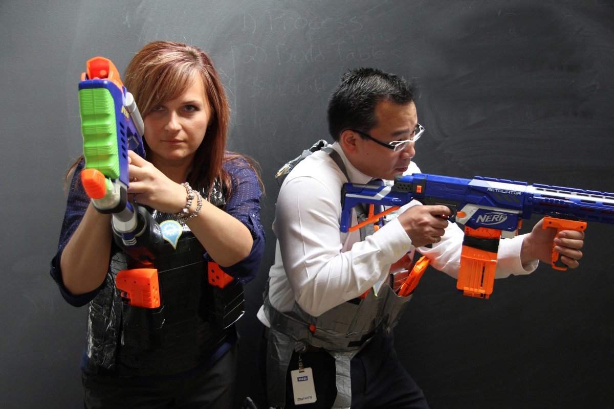 Have an all-out war with nerf guns