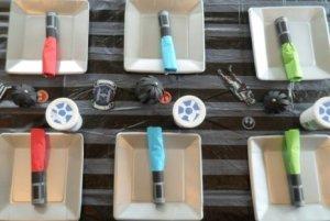Lightsaber Silverware rolls