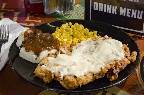 Burn Out Chicken Fried Steak