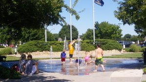 New Market Square Splash Pad