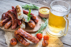 Sausages: German Lager, Amber