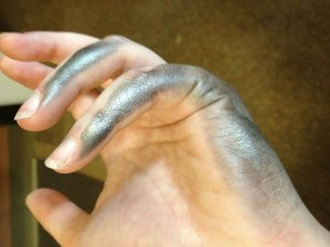 1. The outside of your hand an
