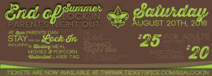End of Summer Lock-In at Tanga