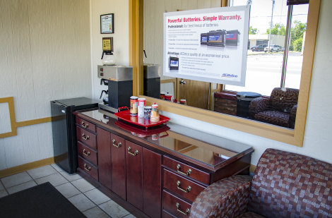 Woody\'s waiting area