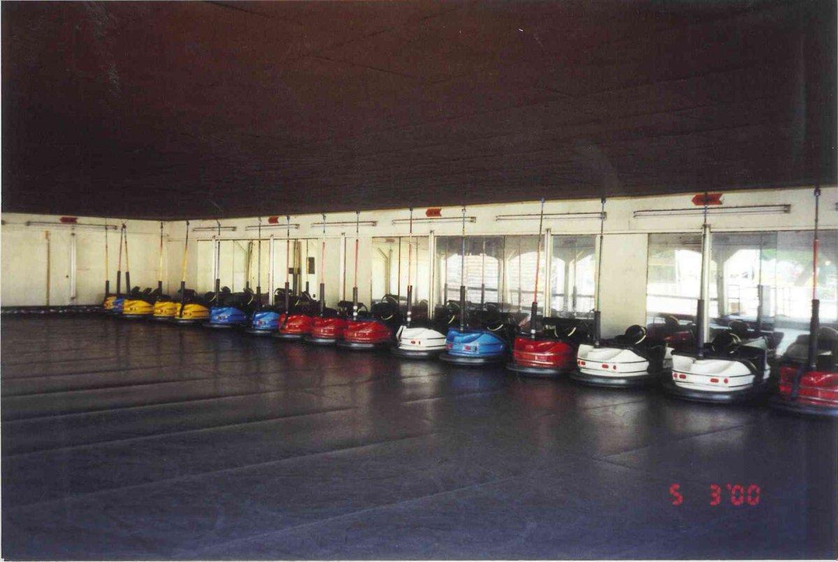 Dodgem bumper cars interior
