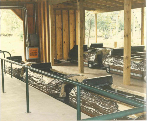 The Log Jam loading area.