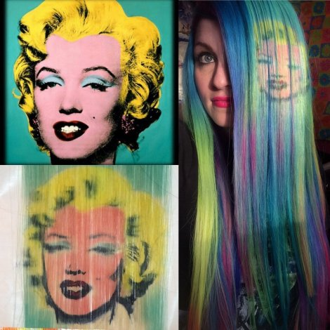 Monroe Hair painting