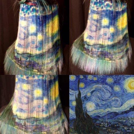 Starry Night Hair Painting