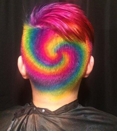 swirly experimental hair