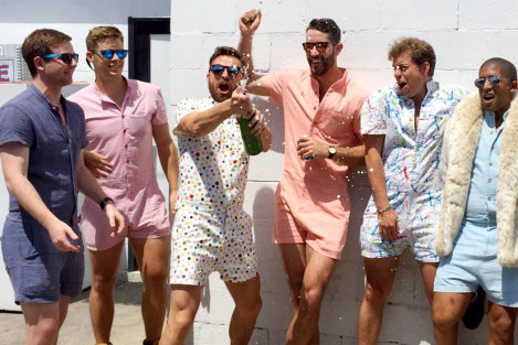 RompHim Men Wearing Romper
