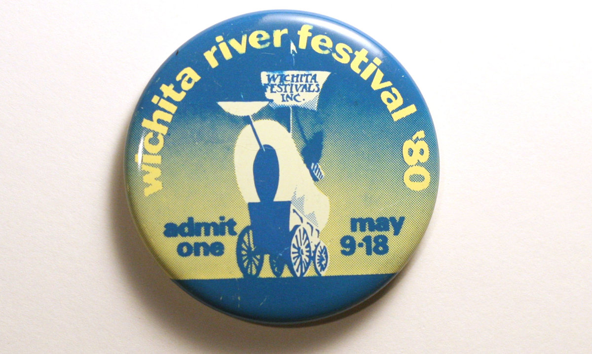 1980 Wichita Riverfest Button