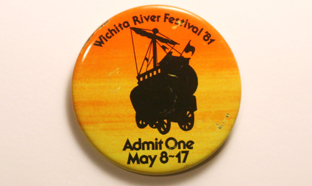 1981 Wichita Riverfest Button