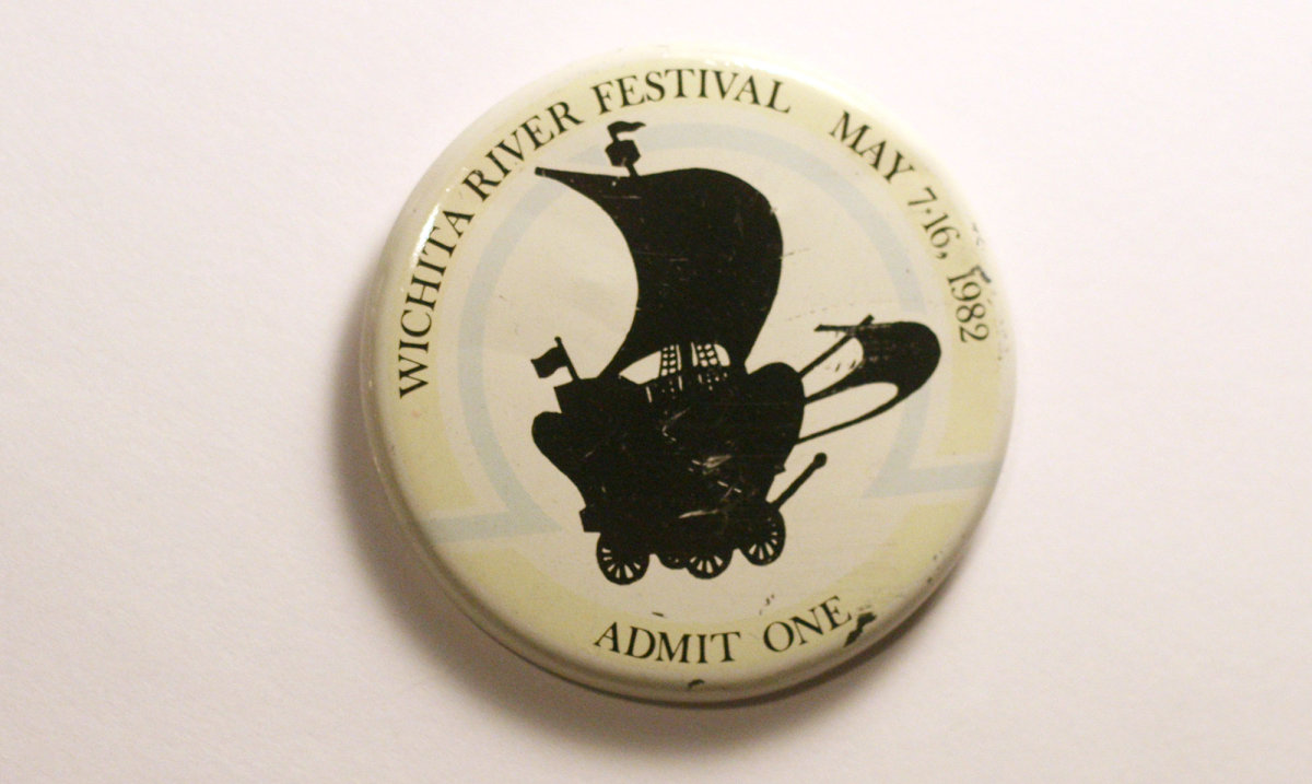 1982 Wichita Riverfest Button