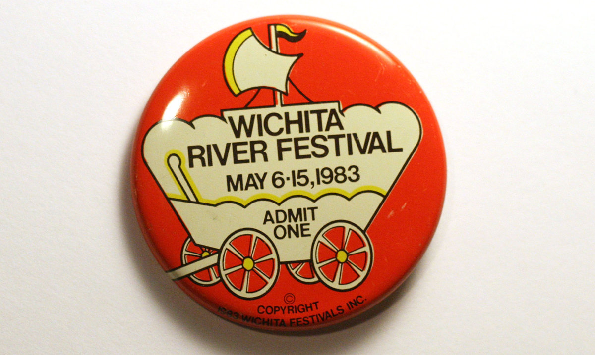 1983 Wichita Riverfest Button