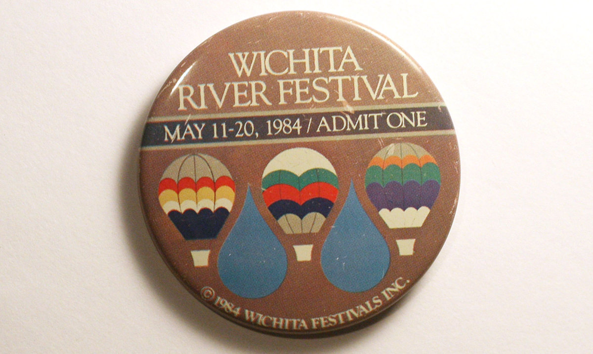 1984 Wichita Riverfest Button