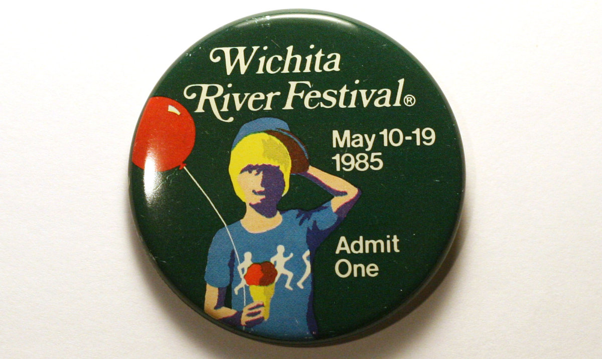 1985 Wichita Riverfest Button