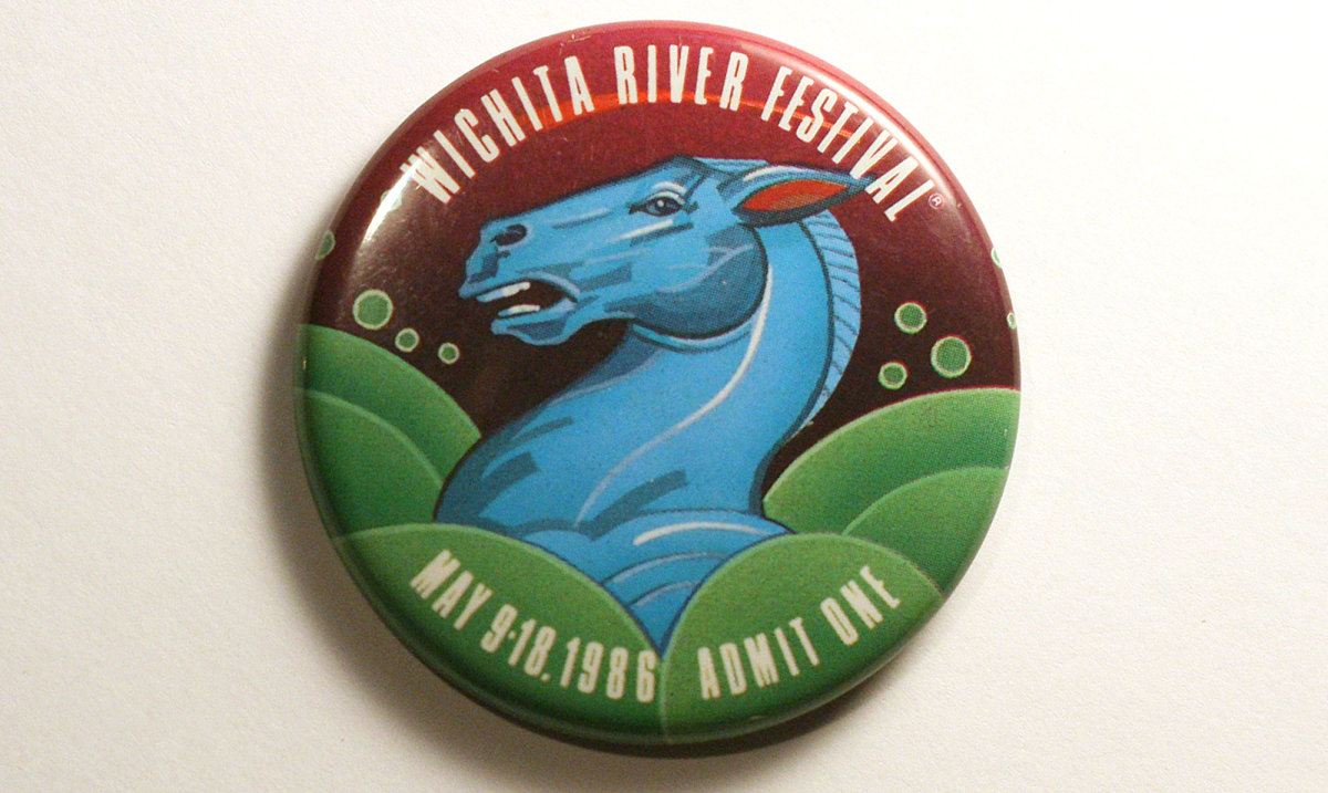 1986 Wichita Riverfest Button