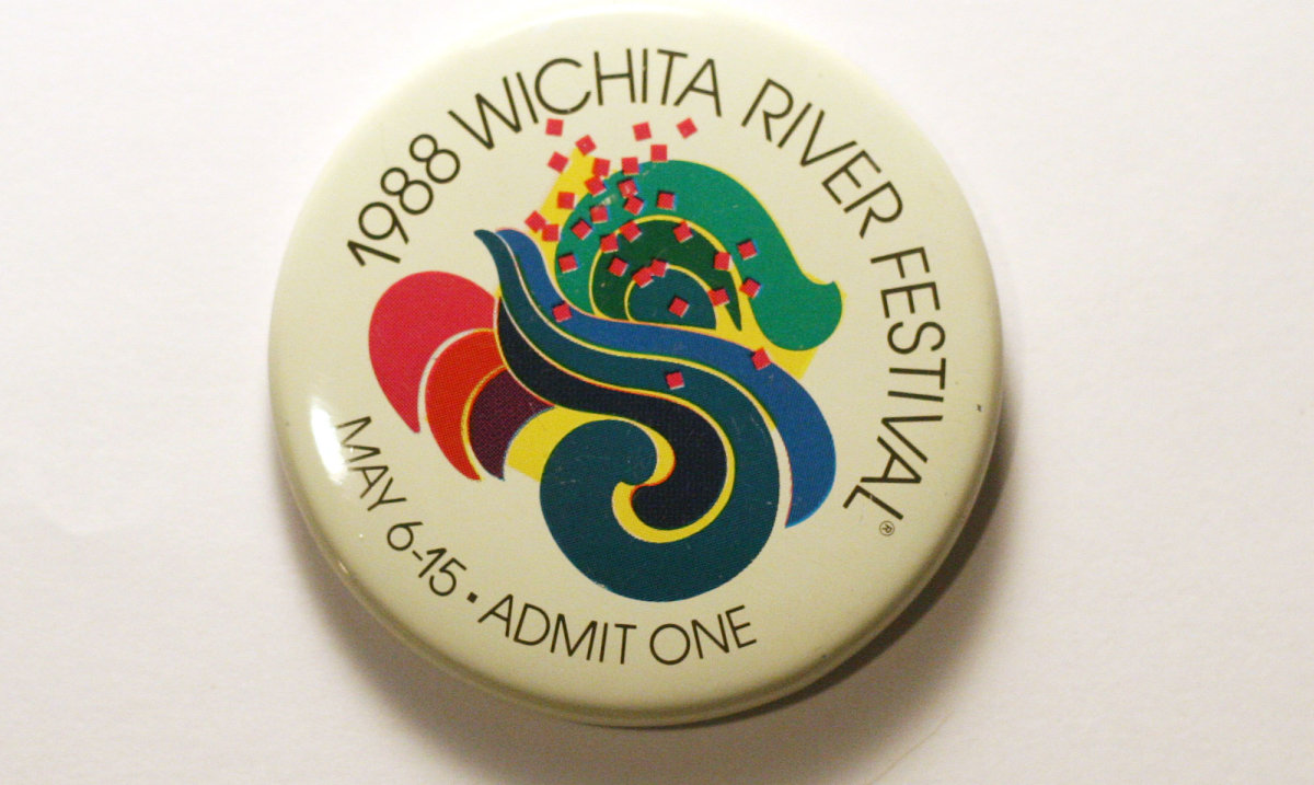 1988 Wichita Riverfest Button