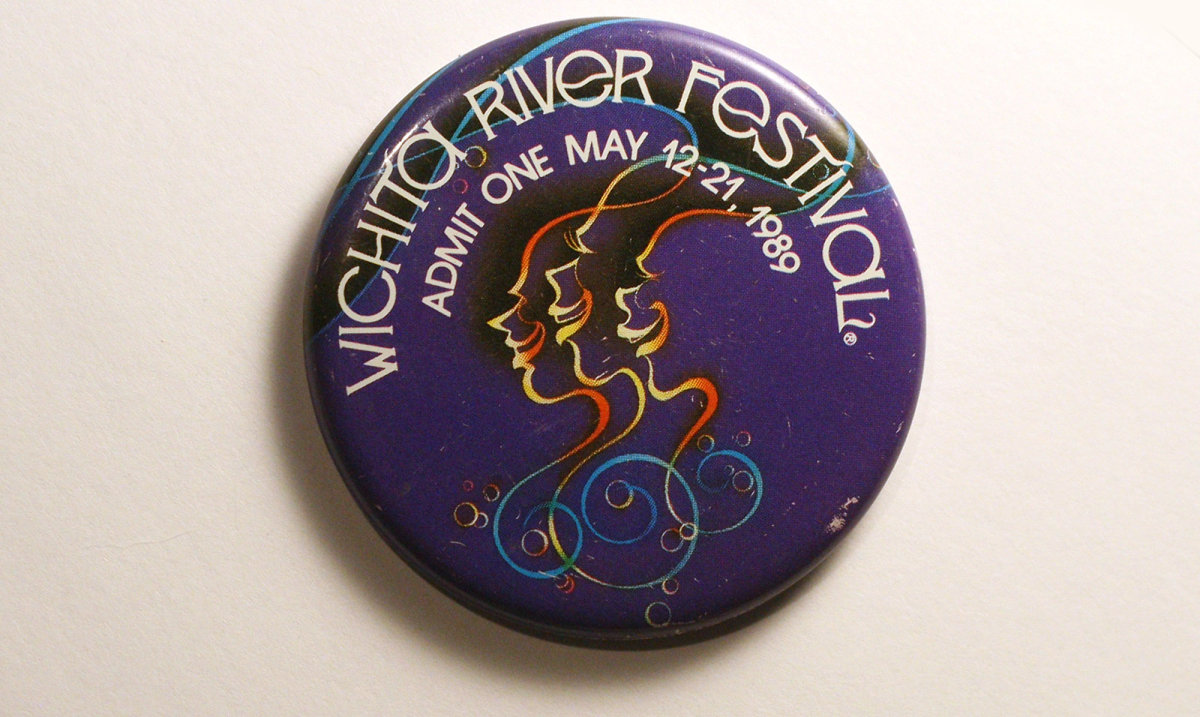 1989 Wichita Riverfest Button