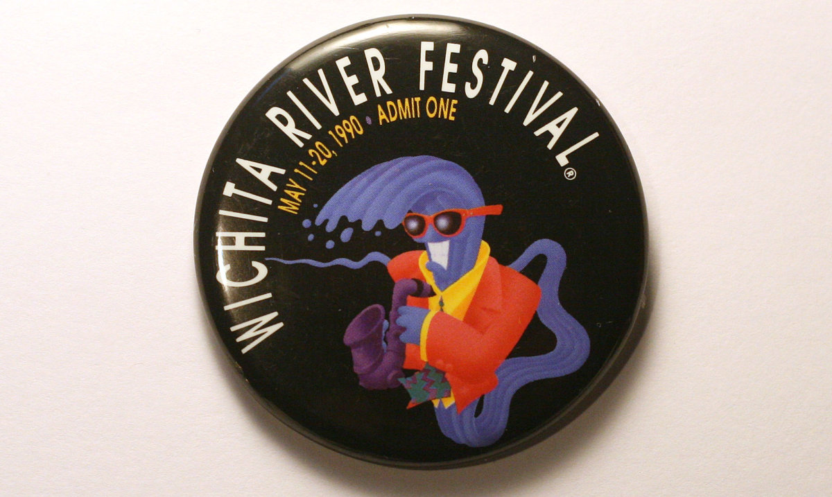 1990 Wichita Riverfest Button
