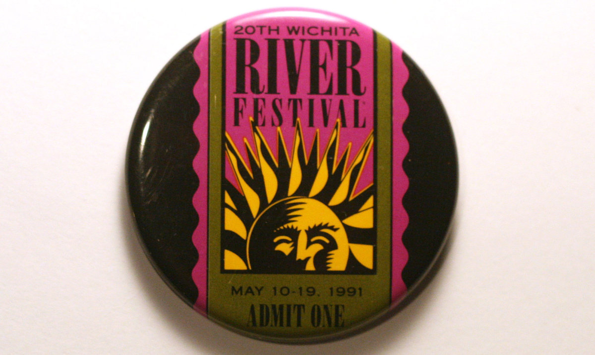1991 Wichita Riverfest Button