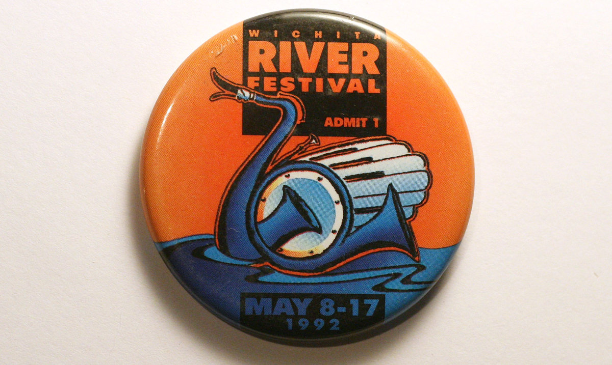 1992 Wichita Riverfest Button