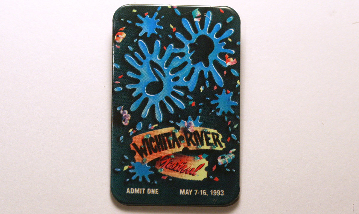 1993 Wichita Riverfest Button