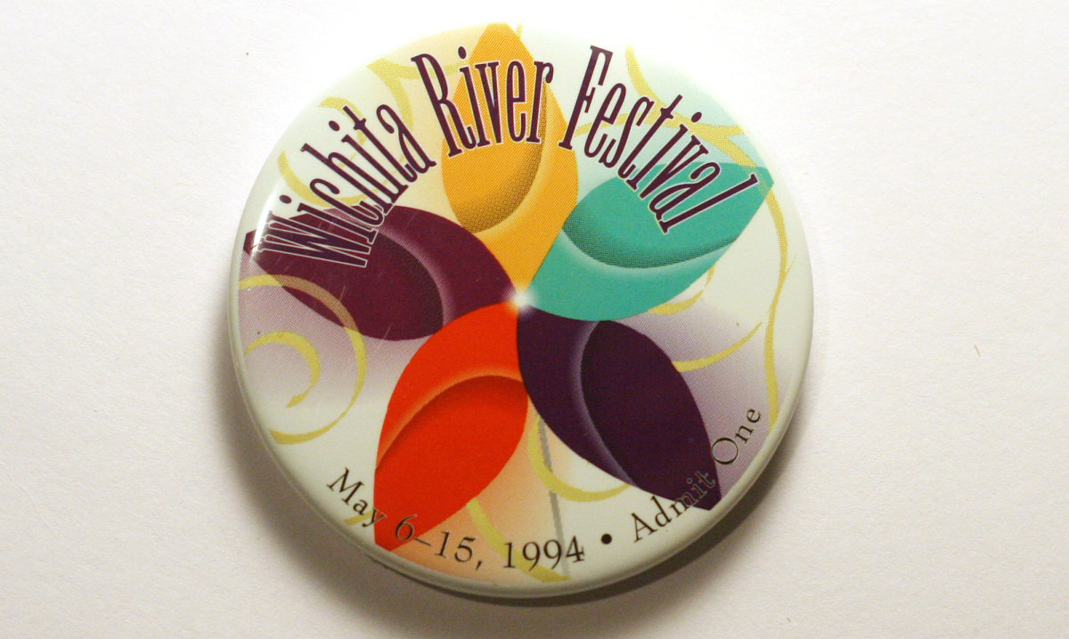 1994 Wichita Riverfest Button