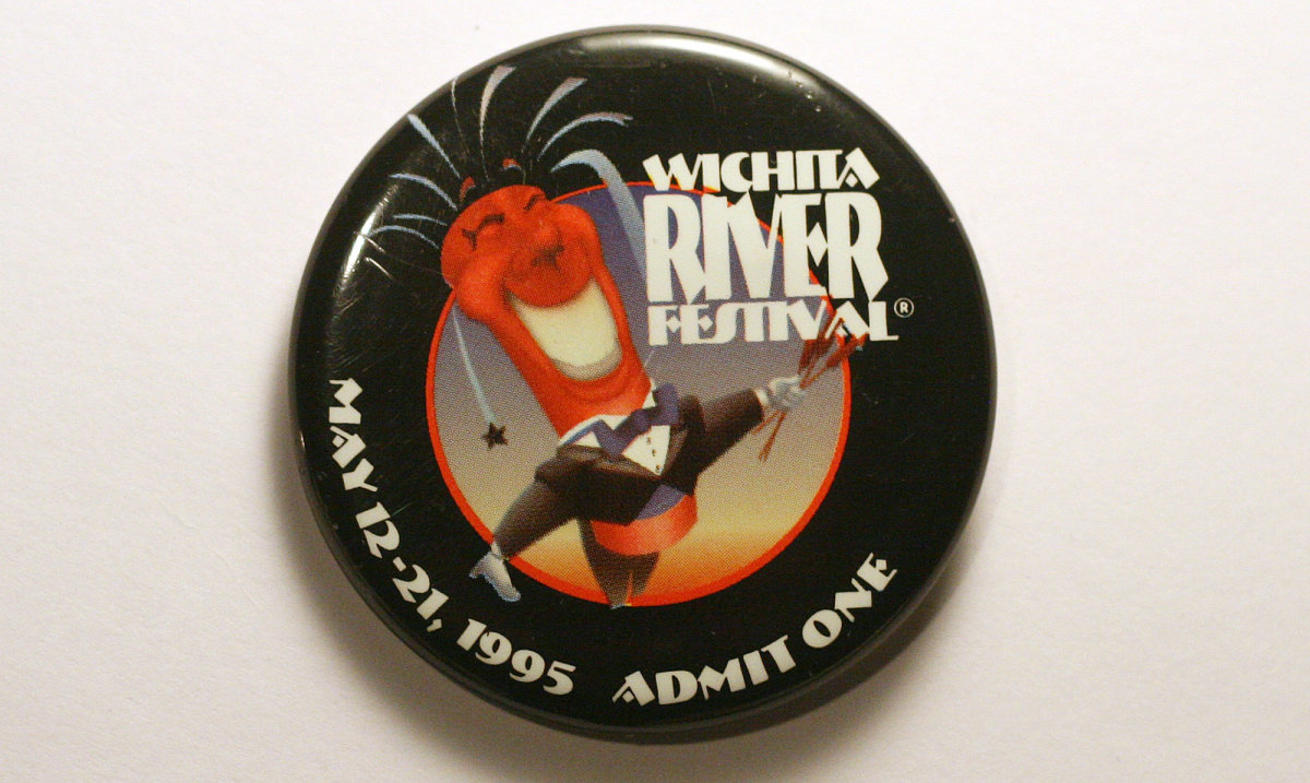 1995 Wichita Riverfest Button