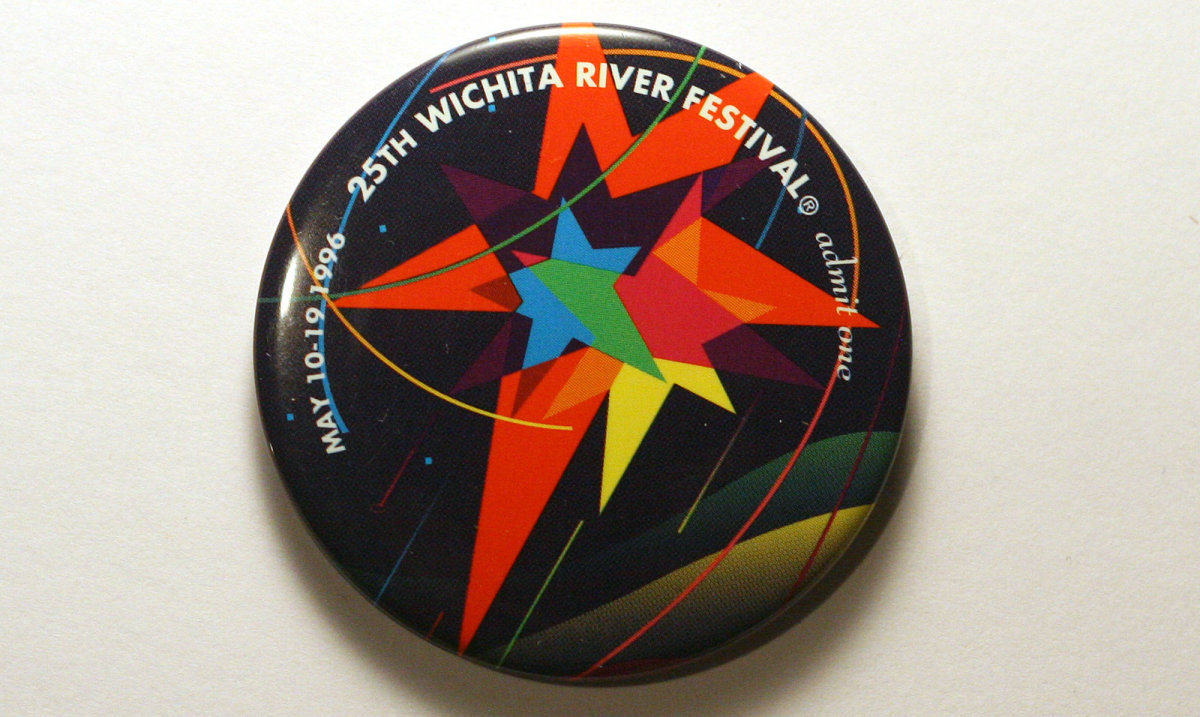1996 Wichita Riverfest Button